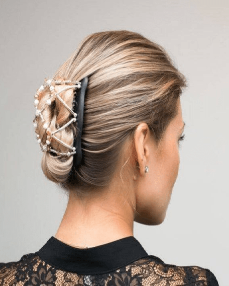 Double Clip with French Twist Hair styles