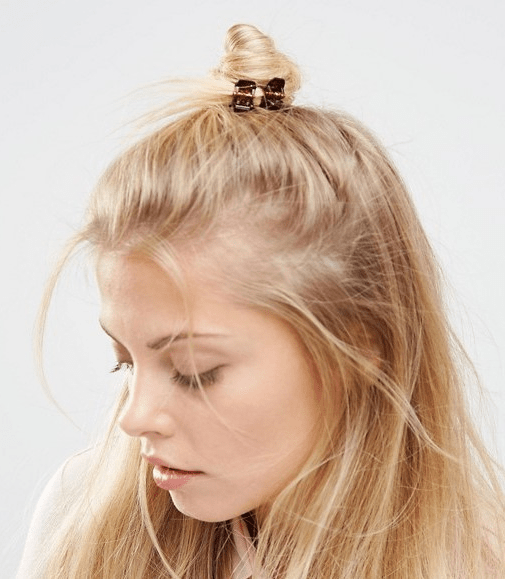 Half Top Knot Hairstyles